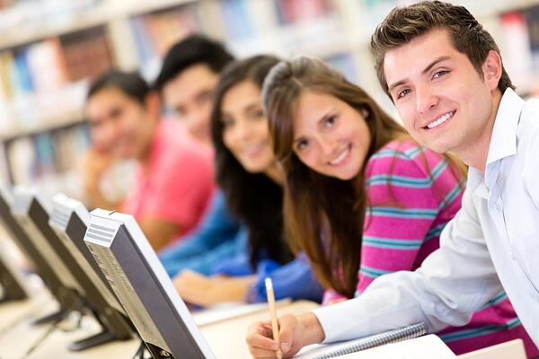 Online education - learners taking part in their continued education.